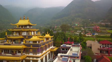 Buddhist Monastery, Kathmandu valley, Nepal - October 16, 2017