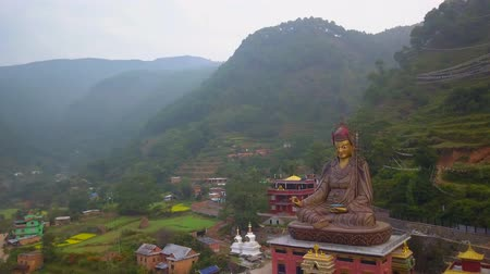 View of Statue Temple of Guru Padmasambhava, Kathmandu valley, Nepal - October 16, 2017