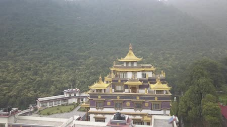sztúpa : Buddhist Monastery, Kathmandu valley, Nepal - October 16, 2017