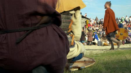 historical reconstruction : Reconstruction, life of warriors in the Middle Ages, performance