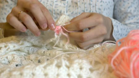 meada : Handmade crochet close-up.