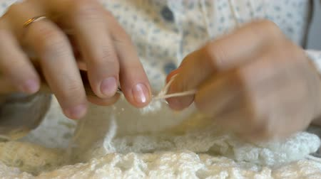 crochê : Handmade crochet close-up.