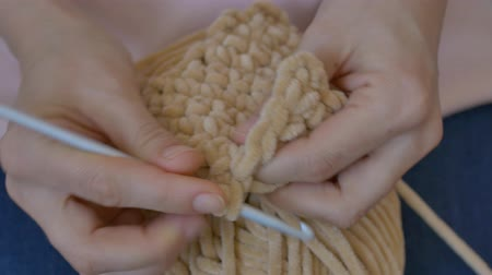 meada : Crochet workshop, creating loops. Master Class Stock Footage