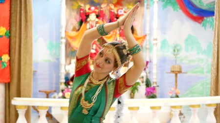 indian ethnicity : A lovely young woman in traditional dance costume