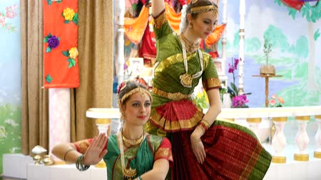 asian and indian ethnicities : Beautiful Indian girls dancer indian dance.