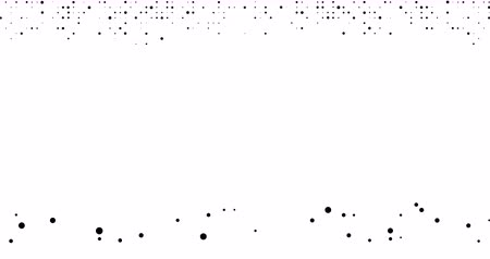 opção : Abstract animation. Halftones black dots appear and fall under the influence of gravity on a white background.