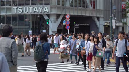 Tokyo, Japan-May 4, 2024: Close up pedestrians walking on Shibuya Crossing in day time (Slow Motion Video). Camera long shot, selective focus Dostupné videozáznamy