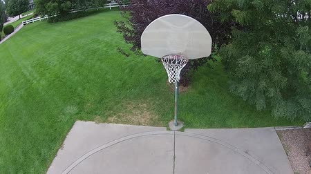 abroncs : Aerial Basketball Shot on an Outdoor Court 02