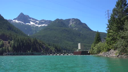 diablo : North Cascades Diablo Lake and Dam Stock Footage