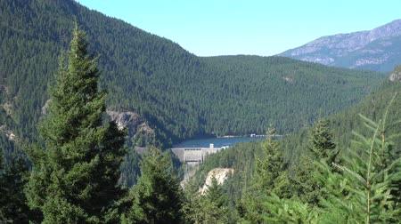 américa do norte : North Cascades Ross Lake Dam View from Afar