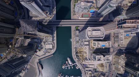 osm : Amazing Top Aerial Drone View On Huge Futuristic Towers And Modern Skyscraper