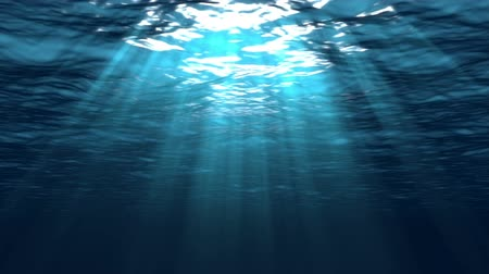mar : Beautiful Underwater Scene With Sun Rays Seamlessly Looping