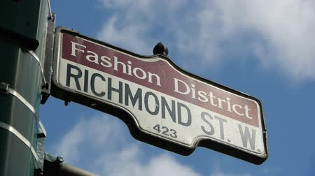 low lighting : Fashion District Street Sign CU