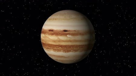 planeta : 3D animation of planet Jupiter rotating in a seamless loop.