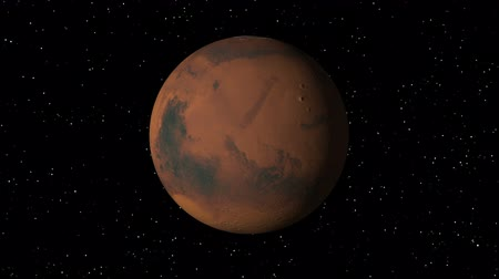 planeta : 3D animation of planet Mars rotating in a seamless loop. Vídeos