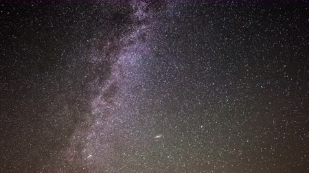 perseids : Astro Time Lapse of Milky Way Galaxy Stock Footage