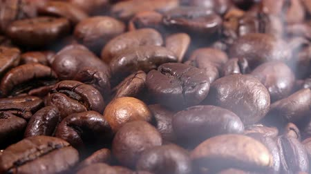 fresh coffee : Roasting Coffee Beans Stock Footage