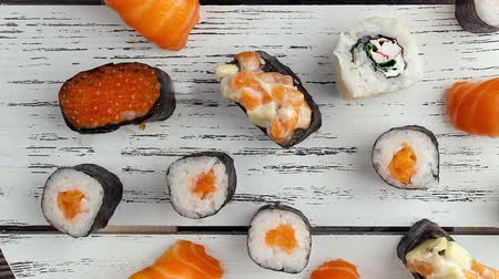 comida japonesa : Asian food and sushi.