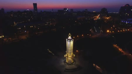 famished : Monument to victims of famine in Ukraine. Stock Footage