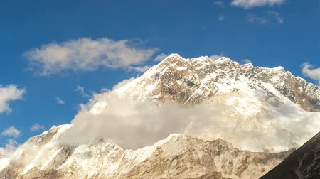 nuptse : timelapse of Nuptse, Everest region, Himalaya, Nepal