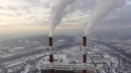 dioksit : Coal Power Plant Emitting Carbon Dioxide Pollution from Smokestacks