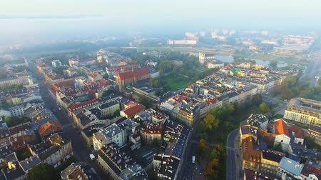 sukiennice : Aerial view of Krakow, Poland, central Europe at morning.