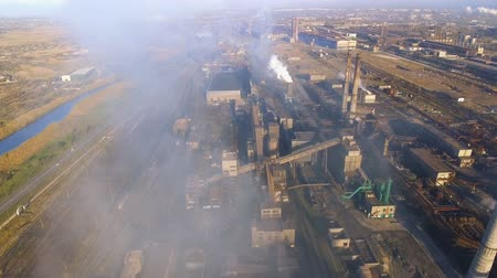 fuel and power generation : aerial view of power plant