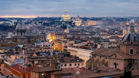 art : View in Historical Capital Rome with Landmarks Around River Tiber in Italy