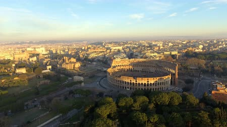 flavian : flying towards Colosseum also known as Coliseum or Flavian Amphitheater