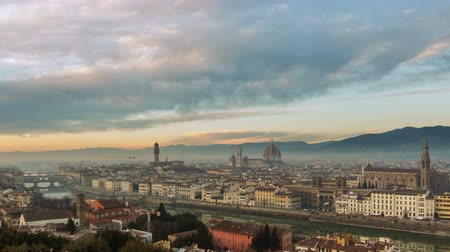 mary : Aerial view of Florence, Italy at sunset. Cathedral Santa Maria