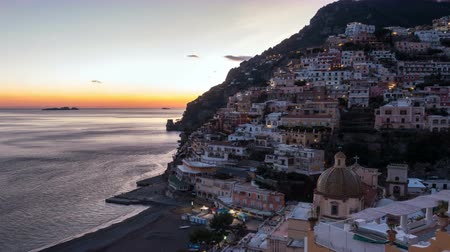 amalfitana : Positano, beautiful Mediterranean village on Amalfi Coast. Italy, timelaps
