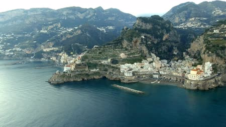amalfitana : Aerial View of Amalfi in Amalfi Coast, Italy
