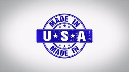 postabélyegző : Made in USA Word 3D Animated Wooden Stamp Animation