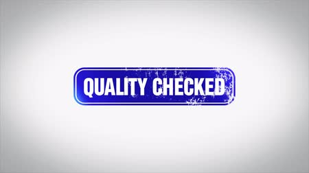 cancelado : QUALITY CHECKED Word 3D Animated Wooden Stamp Animation
