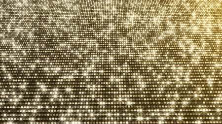 doted : Gold Particles. Glamour Rain. Abstraction, background with sparkling sparks, lights. Stock Footage