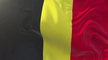 nejlon : Belgium Flag in Slow Motion Smooth blowing in wind seamless loop Background