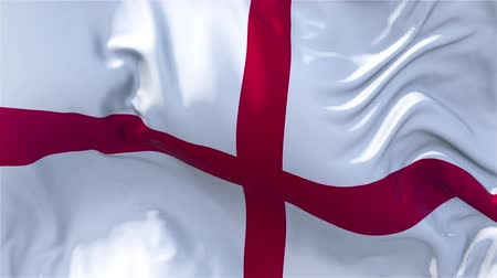 nejlon : England Flag in Slow Motion Smooth blowing in wind seamless loop Background