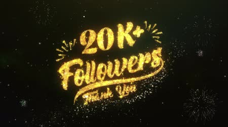 membro : 20K+ Followers Text Greeting Wishes Sparklers Particles Night Sky Firework