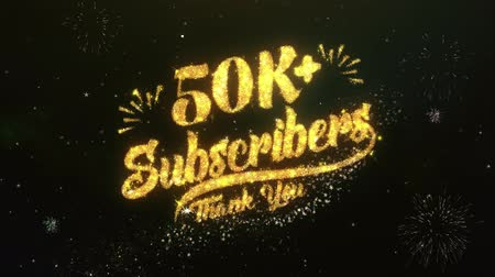 membro : 50K+ Subscribers  Text Greeting Wishes Sparklers Particles Night Sky Firework Vídeos