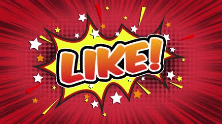 vay : like Word Retro Cartoon Comic Bubbles Popup Style Expressions Colored Bomb and Smoke Strip Dotted and red Speed Radial line Seamless loop Animation black  green screen 4k doodle background