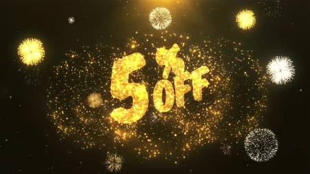 cupom : 5% off Greeting Card text Reveal from Golden Firework & Crackers on Glitter Shiny Magic Particles Sparks Night for Celebration, Wishes, Events, Message, holiday, festival