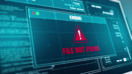 organizing : Searching Files Progress and  File Not Found Warning  Alert Message on Screen , Computer Screen Entering System Login And Password Logging into Showing progress granted System Security. Stock Footage