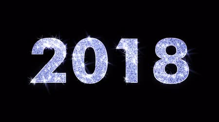 janeiro : 2018 Wishes Blue Glitter Sparkling Dust Blinking Particles Looped Vídeos