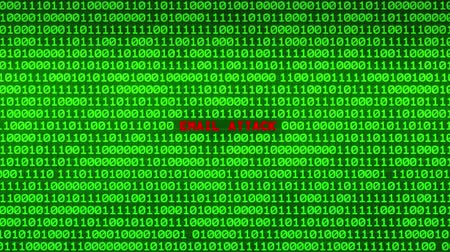 spying : Wall of Green Binary Code Revealing EMAIL ATTACK Word Between Random Binary Data Matrix Background