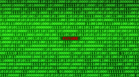 piracy : Wall of Green Binary Code Revealing FUTURE Word Between Random Binary Data Matrix Background Stock Footage
