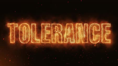 fireball : Tolerance Word Hot Burning on Realistic Fire Flames Sparks And Smoke continuous seamlessly loop Animation
