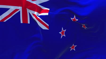 campbell : New Zealand Flag Waving in Wind Slow Motion Animation . 4K Realistic Fabric Texture Flag Smooth Blowing on a windy day Continuous Seamless Loop Background.