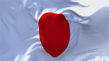 náboženství : Japan Flag Waving in Wind Slow Motion Animation . 4K Realistic Fabric Texture Flag Smooth Blowing on a windy day Continuous Seamless Loop Background. Dostupné videozáznamy
