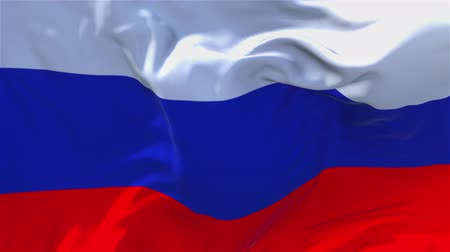 národnost : Russia Flag Waving in Wind Slow Motion Animation . 4K Realistic Fabric Texture Flag Smooth Blowing on a windy day Continuous Seamless Loop Background.