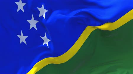tradiční : Solomon Islands Flag Waving in Wind Slow Motion Animation . 4K Realistic Fabric Texture Flag Smooth Blowing on a windy day Continuous Seamless Loop Background. Dostupné videozáznamy